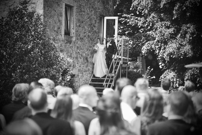 Presentatie bruidspaar