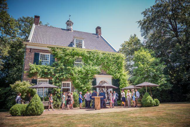 Borrel bruiloft landhuis