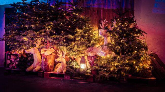 Kerstboom decoratie trouwfeest