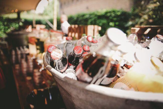 Festival bruiloft borrel