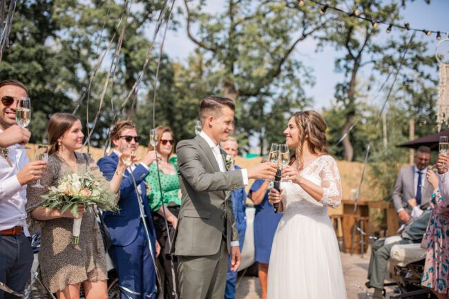 Toostmoment bruiloft